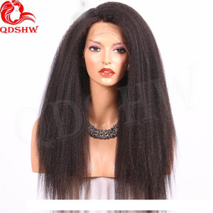 A Human Hair Lace Front Wigs Kinky Straight Virgin Brazilian U Part Wigs Glueless 360 Frontal Full Lace Wigs Pre Plucked With Baby Hair