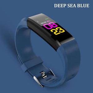 pantalla a color ID115plus ritmo cardíaco mano inteligente de control deportivo a prueba de agua pulsera pulsera inteligente de oxígeno
