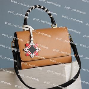 Designer borsa a tracolla con catena di torsione sacchetto di cuoio genuino di stile per la borsa di lusso borse di design Twist delle donne borsa viene fornito con la scatola