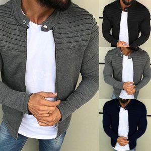 Veste Homme Automne Hiver manches longues Streetwear Raglan Manteau Zipper Raglan Casaco Masculino Jaqueta Masculino 2020
