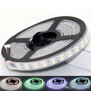 crestech Double Row 5050 RGBW RGB White LED Strip 5M 600Leds SMD Flexible Light 120Leds M 12V DC waterproof IP65