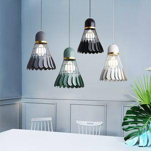 Badminton avize Minimalist modern İskandinav restoran lamba yemek odası lamba Yaratıcı kişilik çubuğu çalışma ve yatak odası lamba