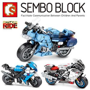 bloklar tuğla bina Sembo 701202-04 Mekanik Kod Serisi Motosiklet Klasik eğitim modeli bebek oyuncakları çocukların hediye set