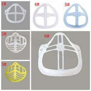 Силиконовая маска кронштейн 3D Lipstick Защитная маска Stand Внутренняя поддержка для усиления дыхания Плавно Маски Держатель инструмента Аксессуар FFA4430-1