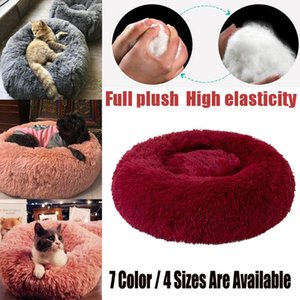 Cat's Bed Plush Kennel Dogs Pet Litter Deep Sleep Cat Litter Sleeping Bed Pet House Cat's Round Shape Comfortable#0729g30