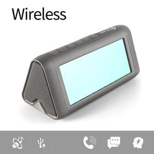 Hoparlör Bas Bozulma-Free bluetooth Taşınabilir Ayna Hoparlör Sanal 3D LED Işık e Stereo