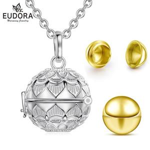 Kafes açılmış EUDORA Urn kremasyonu kolye 20mm lotus Kül Tutucu Keepsaker kolye bola top cazibesi DIY Takı K407 madalyon