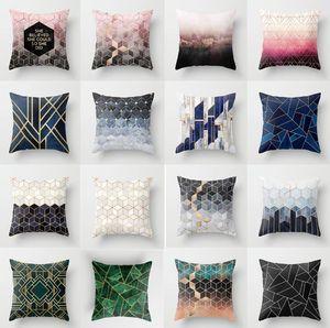 ZENGIA Bronzed Nordic Pillow Case Geometric Sofa Decorative Cushions Custom Pillow Cover Living Room Cushion Throw Pillows