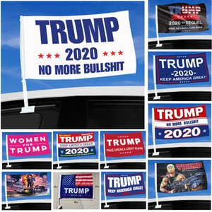 2020 Trump Car Flag 45*30cm US Presidential Election Trump Flag Car Window Flag Including Flagpole 11 Styles Choose HH9-3303