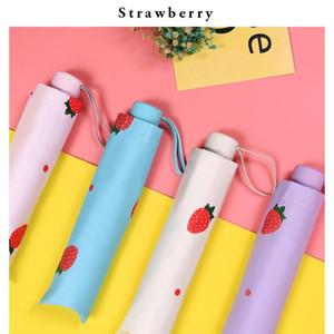 Umbrella Design Yd200074 Sun Parasol Pattern Strawberry Rainproof Yada Fruit Ins Umbrella Protection Umbrella Folding GDawU packing2010