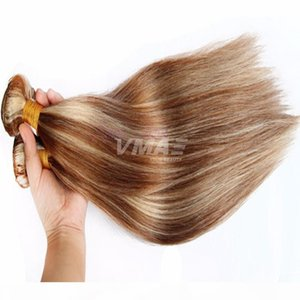 Peruvian Straight mixed colors 8# 613# blonde Hair 3 Bundles Lot VMAE Hair Extensions Hot Beauty Cheap Human Hair Soft Tangle Free