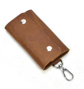 Designer Fashion Womens Mens Key Ring Credit Card Holder Unisex Artificial PU Coin Purse Luxury Mini Wallet Bag Charm Brown Canva