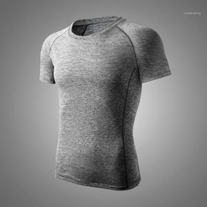 Breathable Gym Tees Active Style Mens Clothing Summer Mens Designer Tshirt Sports Style Quick Dry Crew Neck Solid Color