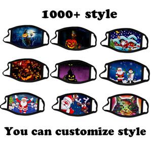 1000 + estilo máscara de Natal Halloween Designer Máscaras crianças e adultos enfrentam máscaras desenhador face forma mascarar você pode máscaras personalizadas