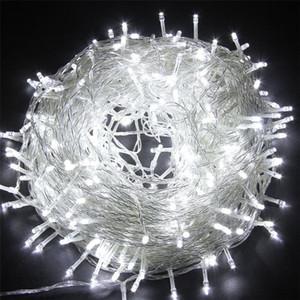 natal exterior levou corda luzes luzes 100M 20M 10M 5M Luces Decoracion fadas luz Iluminação do feriado guirlanda árvore