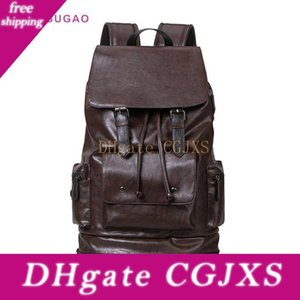Pink Sugao Men Backpack New Fashion Large Travel Bags Outdoor Shoulder Bag Hot Sales Men Big Backpack Pu Leather Bhp
