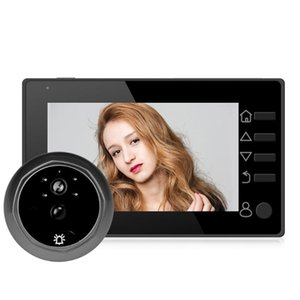 HD 140 graus Sensor de Movimento Camera Doorbell 4.3 polegadas infravermelho Night Vision Peephole Profissional Anti-roubo Wide Angle