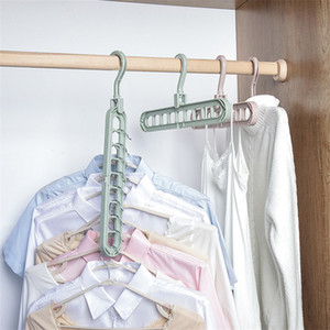 Multi -Port Support Circle Clothes Hanger Clothes Drying Rack Multifunction Plastic Scarf Clothes Hangers Hangers Storage Rack Ct0403