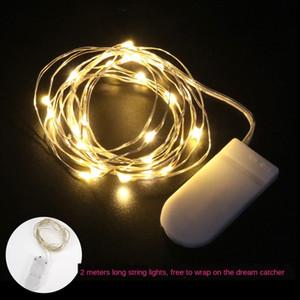 YUATf Girls' Herz träumen Nettodekoration führte Taste Batteriekasten Kupfer Knopf Schnur Zubehör Serial-Wire-String-Lampe Raum Nachtlampe Zugang