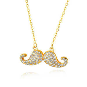 Lan romantique mignon Barbe CZ Collier Femmes Mode couleur d'or Collier Femme Femme Saint-Valentin cadeau en gros