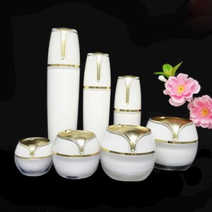 10g 15g 30g 50g Gold Pearl White Acrylic Cream Jar Empty Cosmetic Container 30 50 100ml Lotion Vacuum Pump Bottle