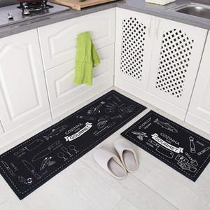 Lange Küche Mat Bad Teppichboden-Matten Haupteingang Fußmatte Tapete Absorbent Schlafzimmer Wohnzimmer Fussmatten Moderne Küche Teppich