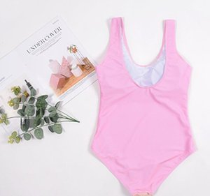 Suit Fashion Summer Letter Printed Women One Piece Pink Lolita Style Bikini Sexy Skinny Swimwear Bathing