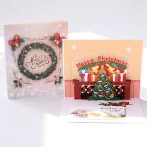 Stereo Christmas Greeting Card albero di Natale 3D dei desideri Scheda dell'invito del partito saluto 2020