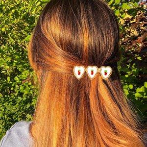 JUST FEEL New Sweet Heart черри Клубничный сплав Заколки девушки милые Шпильки клипы оголовье моды Аксессуары для волос