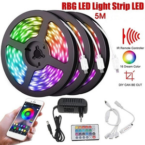 LED Light Strip 5M RGB Colors Flexible Changing LED Strip Lights with Remote for TV Bedroom Party Home Lighting Kitchen Bar