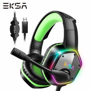 EKSA E1000 Gaming Headset Surround 7.1 Casque filaire PC Gamer pour RGB Lumière Noise Canceling Mic Gaming casque