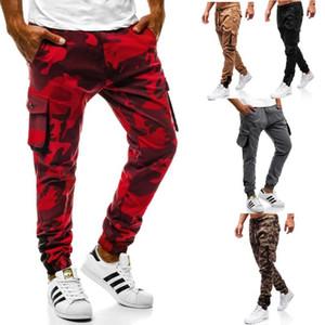 E-Baihui Casual Свободные брюки мужские Камуфляж Фитнес Multi-карман Комбинезоны Тенденции моды Новые спортивные брюки M-3XL