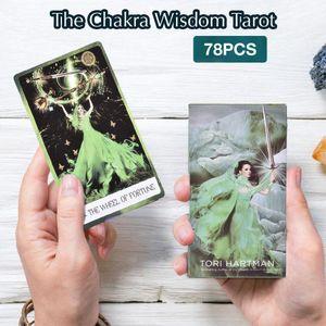 78 Bilgelik Kartları Oyunları Tarot Aile Kurulu'nun qylpzu allguy oynamak Chakra Oracle İçin Kart Party Oyuncak Çocuk Yetişkin