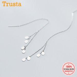Trustdavis New Moda 925 Sterling Silver Água 2020 gotas de borla Wedding Party Dangle Brincos para Mulheres Jóias presente DA937