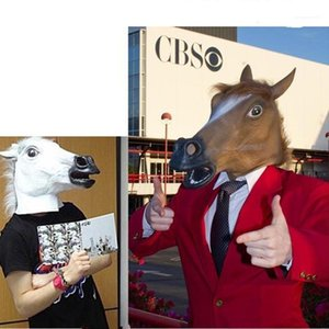 Special Festival Mask Halloween Horse Latex Mask Party Scary Cosplay Animal Suits