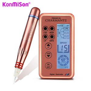 Electric Digital Permanent Rotary Makeup Machine Kits Microblading Pen Gun Eyebrow Lip MTS Tattoo Makeup Pen + Cartridge Needles