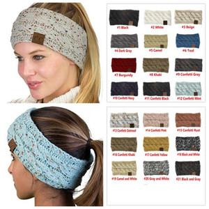 21 Colori Ear CC lavorato a maglia Crochet Donne Sport invernali Headwrap Hairband della testa del turbante band più calde Beanie bambini grandi cappelli 300pcs