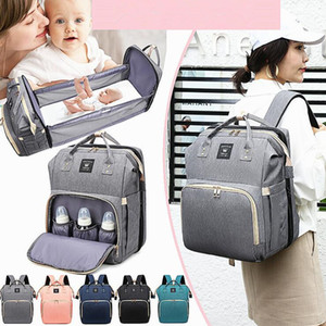 Multifunctional Baby Bed Bags Moms and Dads Outdoor Travel Diaper Bag Portable Backpack Maternity Nursing Handbag Stroller Bag Free Shipping