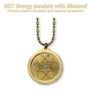 Golden Chain Galaxy collana Quantum Scalar Energy Pendant Uomini Donne fascino con Crystal e ioni negativi per EMF Protection