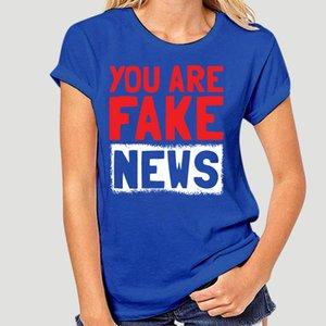 Homens camisa t Falso Notícias Jornalista Jornalismo Hoax Presente engraçado t-shirts Camisa das mulheres T-4473D