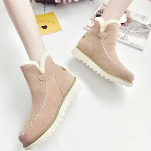 2019 Women Boots Winter Warm Platform Woman Snow Boots Plus Female Casual Sneakers Ankle Boot Female Snow Boot Shoes Size 34 43 Over T 3E0W#