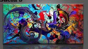Arte moderno del extracto de la decoración de la lona de la decoración del hogar pintado a mano de la impresión de HD pintura al óleo sobre lienzo de arte pared de la lona Cuadro 200915