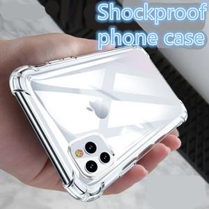 Прозрачный акриловый противоударный Гибридный Доспех Жесткий задняя обложка чехол для iPhone 12 XS 11 Pro Max XR 8 7 Plus