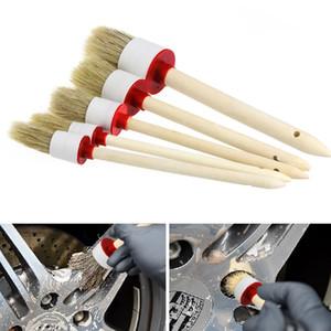 Car cepillo Kit Car Detailing suave cepillo de limpieza Cepillos Auto Detail Herramientas manejar los productos de lavado o limpieza con herramienta de madera