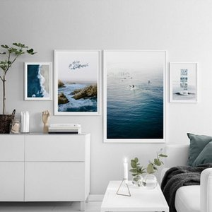 Modern Seascape Wall Art Posters And Prints Canvas Painting Wall Pictures For Living Room Decoration Picture On The
