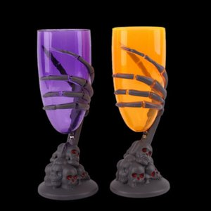 36pcs Halloween Luminous LED Cup Goblet SKull Claw Skeleton Night Light KTV Party Prop for Bar Party Scary Light Cup