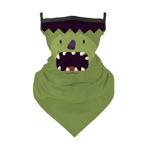 Hallowmas Skull Face Shield Bandana Al aire libre Montar Mascarilla Mascarilla Magic Planearf Diadema Visor Cuello Gaiter Decoración de Halloween Regalos HWB1936