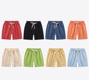 INS Kids Boys Girls Shorts Linen Cotton Material Straps Children Fashions Autumn Summer Unisex Clothes Shorts Bloomers