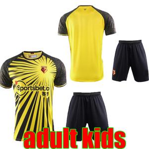 20 21 Kelme Watford F.C. Casa Fora camisas de futebol adultos crianças 2020 2021 Watford Football Club homens amarelos set criança camisa de futebol de vendas personalizados