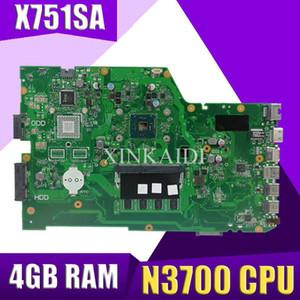 XinKaidi X751SA Laptop Motherboard N3700 CPU 4GB für ASUS X751S X751SJ X751SV Test-Mainboard X751SA Motherboard Test 100% ok
